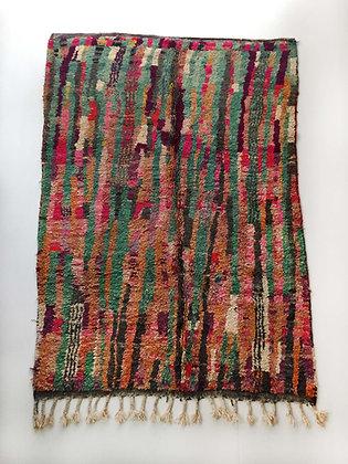 Tapis berbère Boujaad à motifs rayures colorés 2,40x1,55m