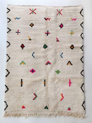 Tapis berbère Azilal à motifs colorés et fluo 2,34x1,47m