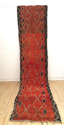 Tapis berbère Azilal vintage 4,33x0,92m