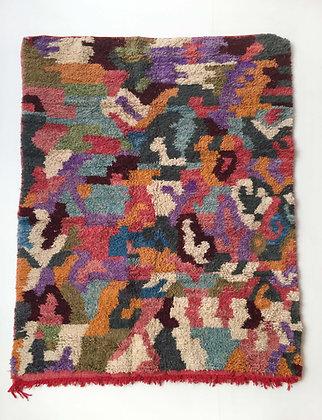 Tapis berbère Boujaad camouflage coloré 2,25x1,68m