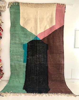 Kilim berbère contemporain 3,28x1,81m