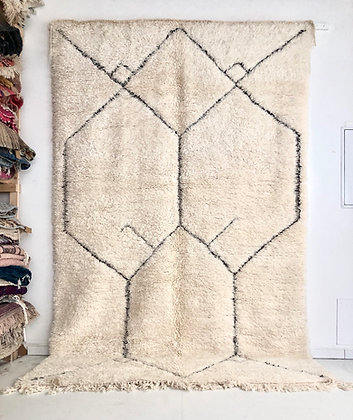 Tapis berbère Marmoucha à motifs graves 3,14x1,98m