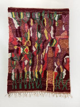 Tapis berbère Beni Ouarain à motifs colorés 2,60x1,60m