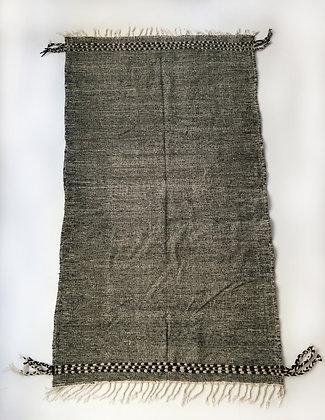 Kilim berbère Zanafi noir et écru 2,62x1,51m