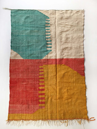Kilim berbère à aplats colorés 2,50x1,48m