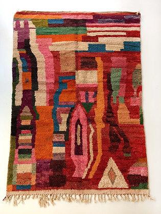 Tapis berbère Boujaad à motifs colorés 2,94x1,82m