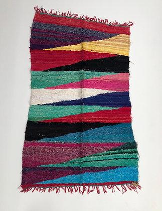 Tapis berbère Kilim Boucherouite 1,51x0,92m