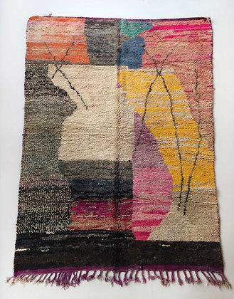 Tapis berbère Boujaad à motifs colorés 3,05x2,02m