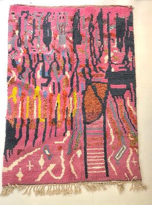 Tapis berbère Beni Ouarain coloré 2,8x2m