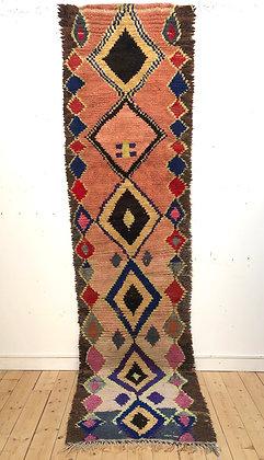 Tapis berbère Azilal vintage 3,43x0,87m