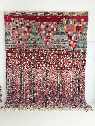Tapis berbère Beni Ouarain à motifs colorés 2,93x2,33m
