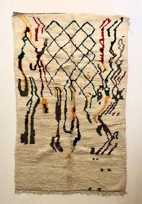 Tapis berbère Azilal à motifs colorés 2,33x1,51m