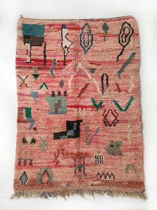 Tapis berbère Boujaad à motifs colorés 2,40x1,58m