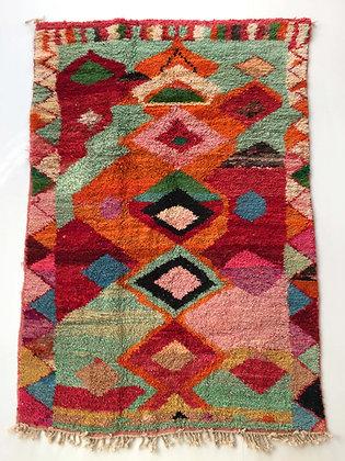 Tapis berbère Boujaad à motifs colorés 2,57x1,57m