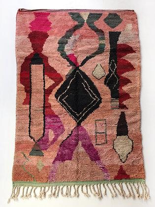 Tapis berbère Boujaad à motifs colorés 2,56x1,60m
