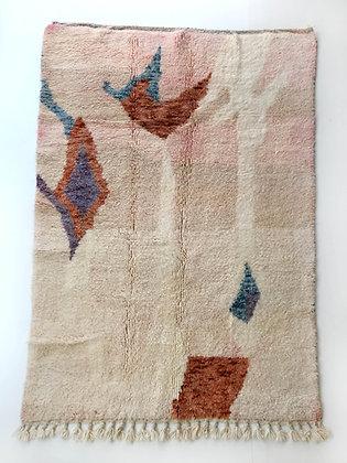 Tapis berbère Boujaad pastels à motifs 2,50x1,60m