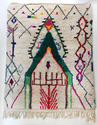 Tapis berbère Azilal à motifs colorés 2,82x2,07m