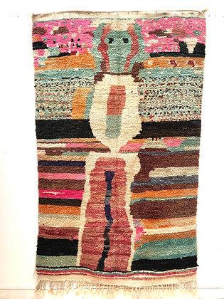 Tapis berbère Boujaad coloré 2,47x1,48m