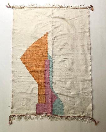 Kilim berbère à motifs pastels 2,36x1,68m