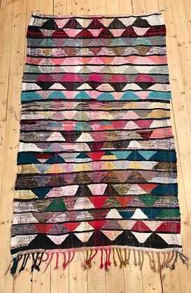 Tapis berbère Kilim Boucherouite 2,23x1,32m
