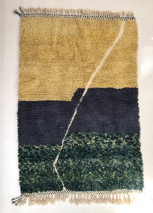 Tapis berbère Boujaad tricolore 2,36x1,53m