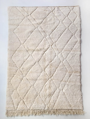 Tapis berbère Beni Ouarain uni à motifs gravés 2,70x1,60m
