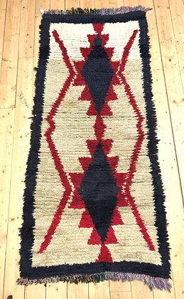 Tapis berbère Azilal vintage 2,13x0,93m