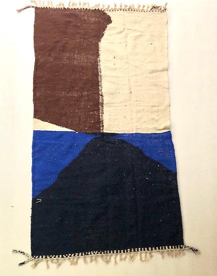 Kilim berbère a aplats colorés 2,69x1,45m