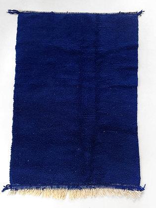 Tapis berbère Beni Ouarain bleu intense 2,44x1,55m