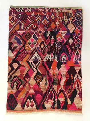 Tapis berbère Boujaad à motifs colorés 2,96x1,80m