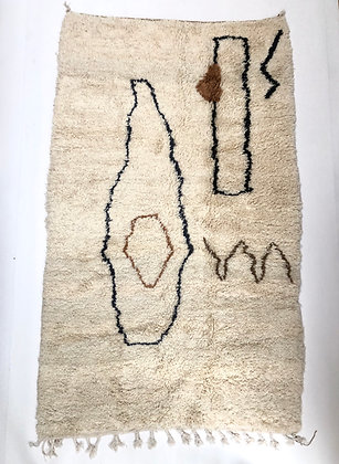 Tapis berbère Azilal à motifs colorés 2,64x1,56m