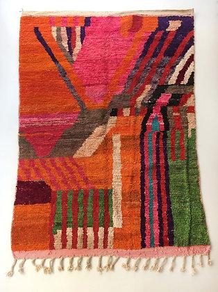 Tapis berbère Boujaad à motifs colorés 3,07x1,98m