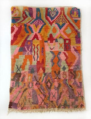 Tapis berbère Boujaad à motifs colorés 2,71x1,73m