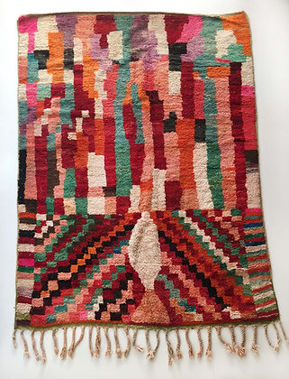 Tapis berbère Boujaad graphique coloré 2,77x1,97m