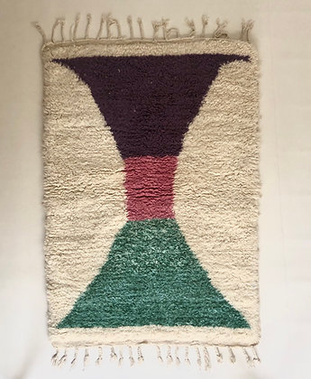 Tapis berbère Beni Ouarain à motifs colorés 1,77x1,23m