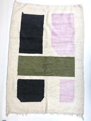 Tapis berbère Azilal à motifs colorés 2,4x1,70m