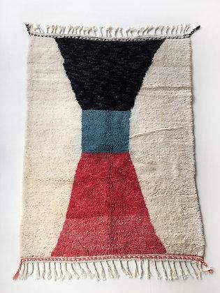 Tapis berbère Beni Ouarain à motifs colorés 2,35x1,64m