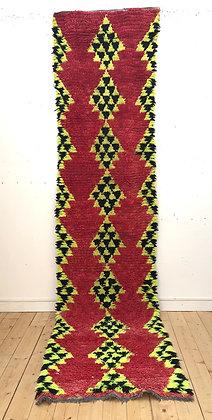 Tapis berbère vintage Azilal 3,68x0,9m
