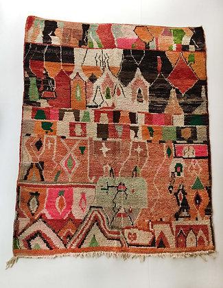 Tapis berbère Boujaad à motifs colorés 2,48x1,85m