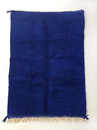 Tapis berbère Beni Ouarain bleu intense 2,44x1,58m