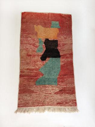 Tapis berbère Boujaad à motifs colorés 2,03x1,10m