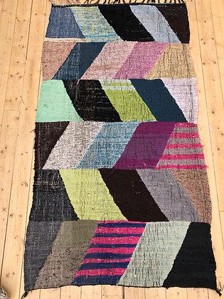 Tapis berbère Kilim Boucherouite 2,33x1,25m