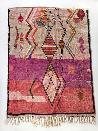 Tapis berbère Boujaad à motifs colorés 2,86x1,95m