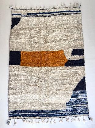 Tapis berbère Beni ouarain à motifs colorés 2,58x1,70m