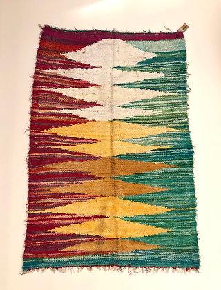 Tapis berbère Kilim Boucherouite 1,54x1m
