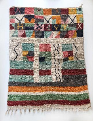 Tapis berbère Boujaad à motifs colorés 2,81x2,01m