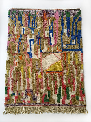 Tapis berbère Beni Ouarain à motifs colorés 2,60x1,66m