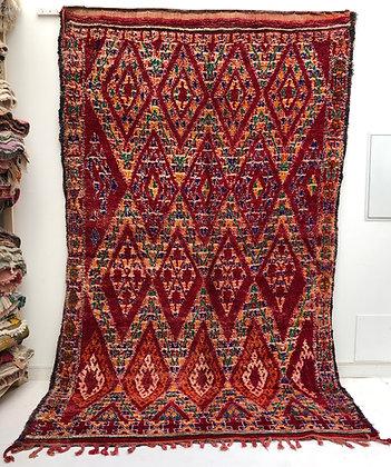 Tapis berbère marocain ancien Beni m'guild 3,31x2,01m