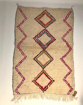 Tapis berbère Azilal à losanges colorés 1,49x1,01m