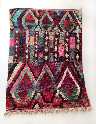 Tapis berbère Boujaad à motifs colorés 2,82x1,95m